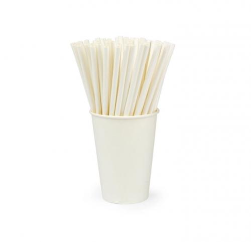 Трубочка бумажная белая