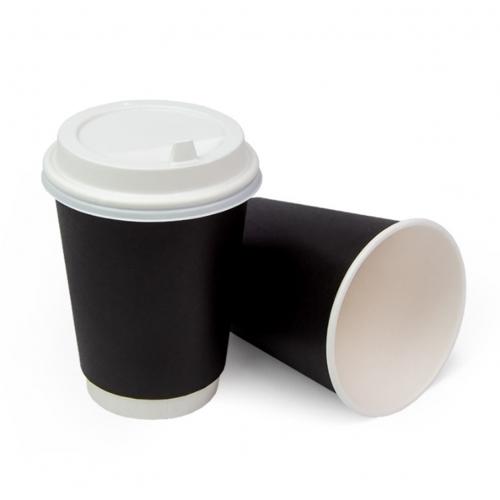 Стакан бумажный двухслойный черный 400 мл
