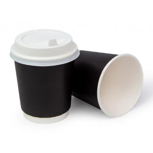 Стакан бумажный двухслойный черный 250 мл