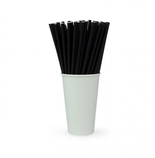 Трубочка бумажная чёрная