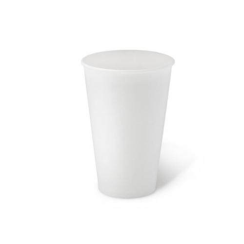 Стакан бумажный однослойный белый 450 мл