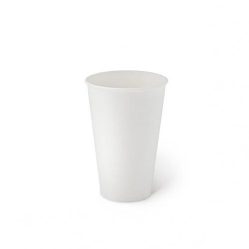 Стакан бумажный однослойный белый 350 мл